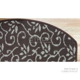 Фрагмент коврика на ступеньку Жаккард с коротким ворсом.