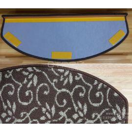 Оборот коврика на ступеньку Жаккард с коротким ворсом.