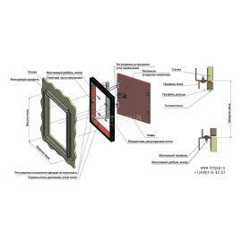 Стальной люк под плитку К-3 Ревизоро - инструкция монтажа
