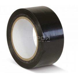 Черная лента ПВХ для разметки и маркировки.