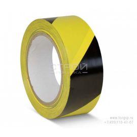 Сигнальная лента для разметки  черно-желтая диагональ.