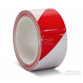 Лента разметочная красно белая для сигнальной разметки и маркировки PVC Floor Making Tape red-white color.