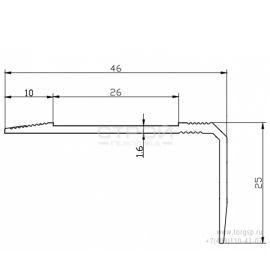 Схема чертеж профиля для ленты накладного АУ-46х25.
