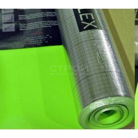 Крупный план подложки Vinyflex для виниловых полов с размером рулона 100 см на 11 метров.