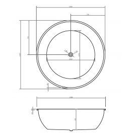 Акриловая ванна Abber AB9279 схематические размеры