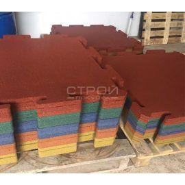 плитка Puzzle Standart из резиновой крошки готовим к упаковке и отправке