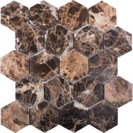 Мозаика Hexagon Dark Emperador Polished (JMST6303P) 282X260X8 мм