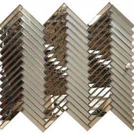 Мозаика зеркальная Pino LB74-3 на сетке матовое бронзовое зеркало + бронзовое зеркало