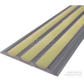 Плоская фотолюминесцентная накладка на ступень или пол ALSN-48S-G500