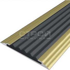 Алюминиевая полоса анодированная — Next A АП40 матовое золото.