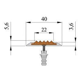 Технические размеры антискользящей алюминиевой накладки Next АП40