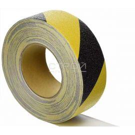 Полимерная лента Anti Slip Tape PEVA Hazard противоскользящая черно-желтая