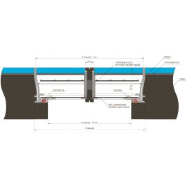 Напольный люк в пол Инспектор - схематические размеры