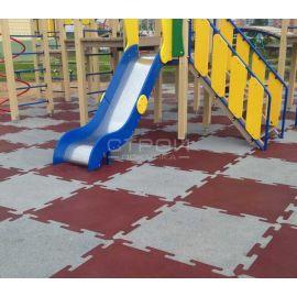 Плитка Puzzle Standart из резиновой крошки для детских площадок