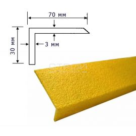 Размеры уголка из стеклопластика композитного.