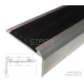 Порог угловой алюминиевый с резиновой вставкой 26 мм шириной.
