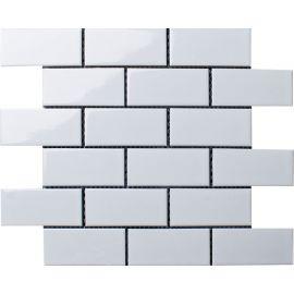 Керамическая мозаика Brick White Glossy (A32000/A1001G) 291х295х6 на сетке из коллекции Brick & Metro