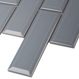 Керамическая мозаика Brick & Metro Metro Bluish-Grey Glossy 45х145