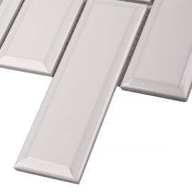 Керамическая мозаика Brick & Metro Metro White Glossy 45х145