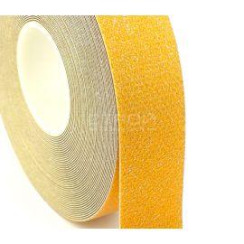 Рулон желтой светоотражающей виниловой ленты Сoarse Resilient DOT H6652.
