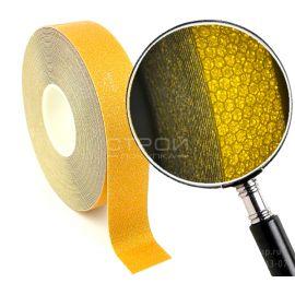 Желтая светоотражающая виниловая лента Сoarse Resilient DOT H6652.