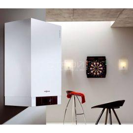 Настенный газовый конденсационный котел Viessmann Vitodens 200-W B2HA от 12 до 150 кВт в интерьере комнаты.