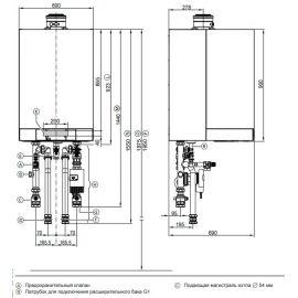 Технические данные котла Viessmann Vitodens 200-W B2HA, 120 и 150 кВт.