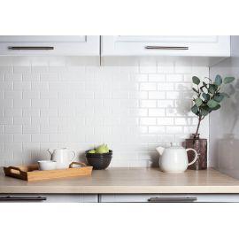Керамическая мозаика Brick & Metro Brick White Glossy
