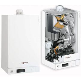 Газовый котел Viessmann Vitodens 050 W 24 Квт на природном газе с КПД 98%, быстрым нагревом воды, бесшумной работой и дистанционным управлением.