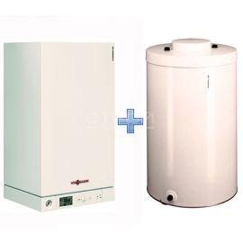 Котел одноконтурный Vitopend 100-W A1HB 24 кВт с закрытой камерой сгорания с бойлером Vitocell 100-W CUGA 100 литров в комплекте. В пакете дешевле.