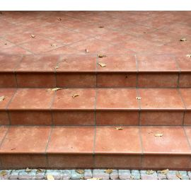 Ступень фронтальная Interbau Alpen 059 Красная глина 310x320 мм R11/B