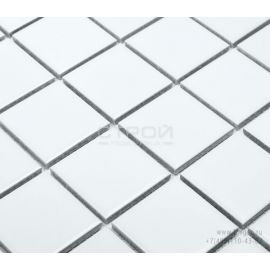 Керамическая белая мозаика White Matt 4,8х4,8 см Starmosaic