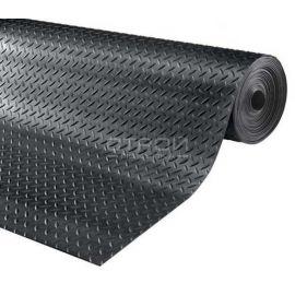 Рулон черной резиновой дорожки Елочка, 10 метров.