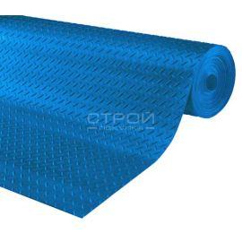 Рулон синей резиновой дорожки Елочка, 10 метров.