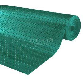 Рулон зеленой резиновой дорожки Елочка 10 метров.