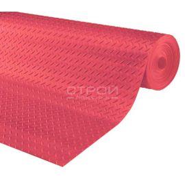Рулон красной резиновой дорожки Елочка, 10 метров.