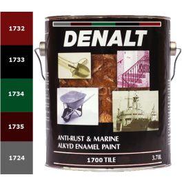 Антикоррозийная краска по металлу 1700 Denalt Anti-Rust, красного, черного, зеленого, серого и коричневого цветов.