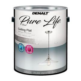 Ультраматовая, самовыравнивающая краска для потолка Pure Life белого цвета, с колеровкой в светлые тона.