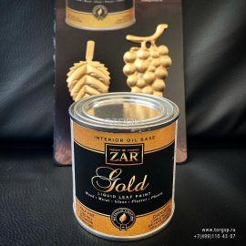 Золотая декоративная краска ZAR® Interior Oil Base Gold Liquid Leaf Paint.