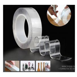Водостойкая двухсторонняя клейкая лента акриловая Nano tape 2мм x 30мм x 3м