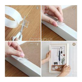 Водостойкая двухсторонняя клейкая лента акриловая Nano tape или ivy grip tape 2мм x 30мм x 3м