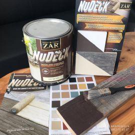 Восстанавливающая краска для дерева на водной основе для деревянных и бетонных поверхностей. Краска специально создана для реставрации поврежденных и состаренных поверхностей из дерева или бетона. Благодаря своей эластомерной формуле, краска заполняет отверстия и трещины размером до 5мм, создавая при этом новую противоскользящую поверхность