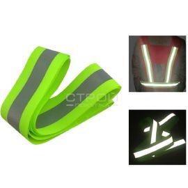 Зеленая светоотражающая тканевая лента Reflective fabric tape 5см x 50м