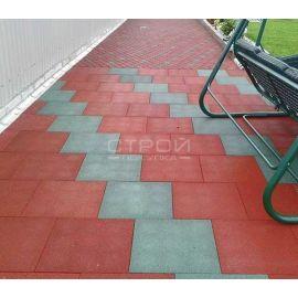 Пешеходная дорожка выложенная из резинового покрытия Rubblex Standart.