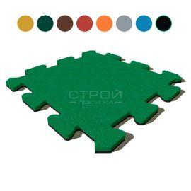 Пазл Comfort из резиновой крошки 50х50х4 см зелёный.