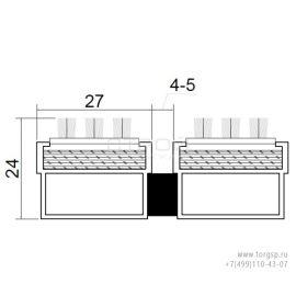 Грязезащитная решетка Щётка стандарт Doormat Standart 23 B