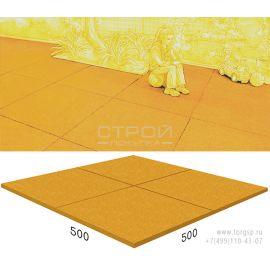 Резиновое покрытие Rubblex Standart желтого цвета 50х50 см.