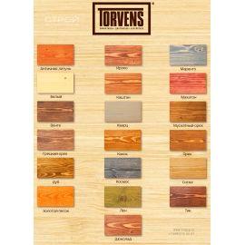 Масло для фасада Torvens для защиты и проявления рисунка деревянного дома  - цвета для колеровки.