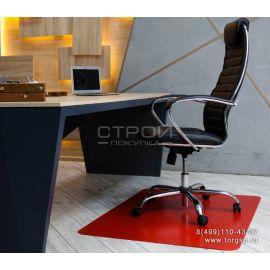 Защитный коврик под кресло красный из полипропилена