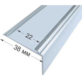 Угол порог без вставки, размером 38х5,5х20 мм, без покрытия.
